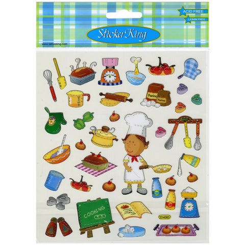 Sticker King COOKING Stickers 35pc Scrapbooksrus