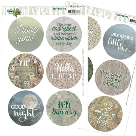 Amy Design AMAZING OWLS Text Designs Scrapbooksrus