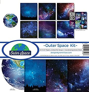 Reminisce OUTER SPACE KIT 12X12 Scrapbook Kit Scrapbooksrus