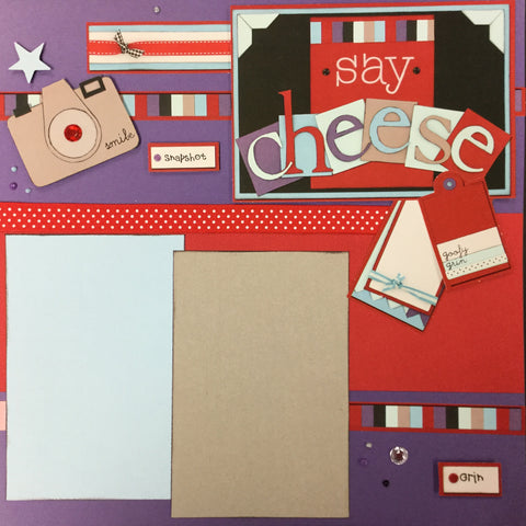 Page Kit (2) 12X12 SAY CHEESE Scrapbook @Scrapbooksrus Scrapbooksrus