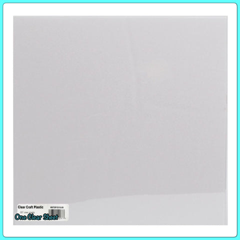 "CLEAR SHEET 12""X12"" Craft Plastic Transparency .007"