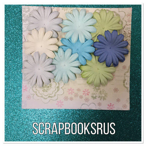 Summer Bloom Flowers 18pc Scrapbooksrus