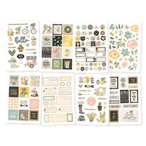 Simple Stories SPRING FARMHOUSE 4x6 Stickers 171pc Scrapbooksrus