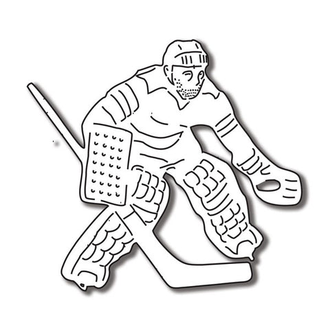 Hockey Scrapbook Customs HOCKEY GOALIE Diecut 1pc