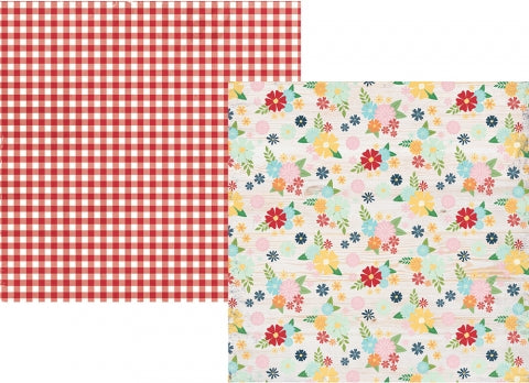 Simple Stories Springtime WELCOME SPRING 12x12 Scrapbook Paper Scrapbooksrus