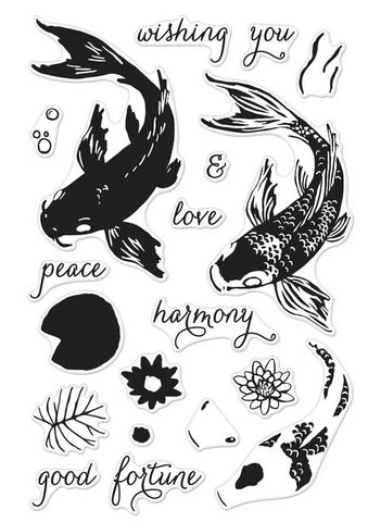 Hero Arts Color Layering KOI Clear Stamp ScrapbooksRUs