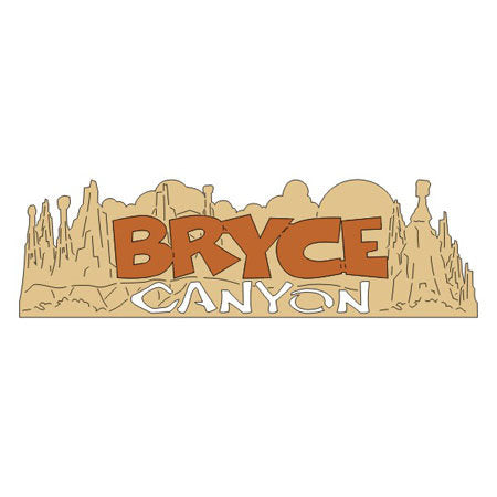 "BRYCE CANYON Word & Background Title Travel Laser Cuts 3""X 9"" 1pc Scrapbooksrus"