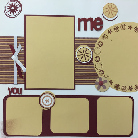 "$5.00 Premade Pages ME AND YOU (2) 12""X12"" Scrapbook Pages Scrapbooksrus"