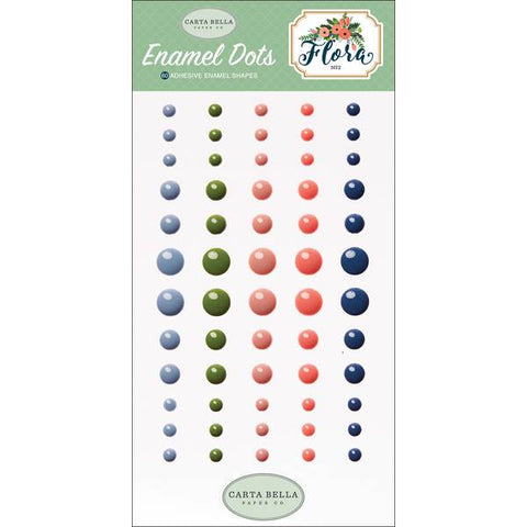 Carta Bella FLORA #2 Enamel Dots 60pc