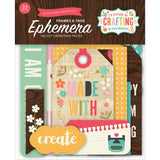 Echo Park I'd Rather Be Crafting EPHEMERA FRAMES TAGS Die Cuts