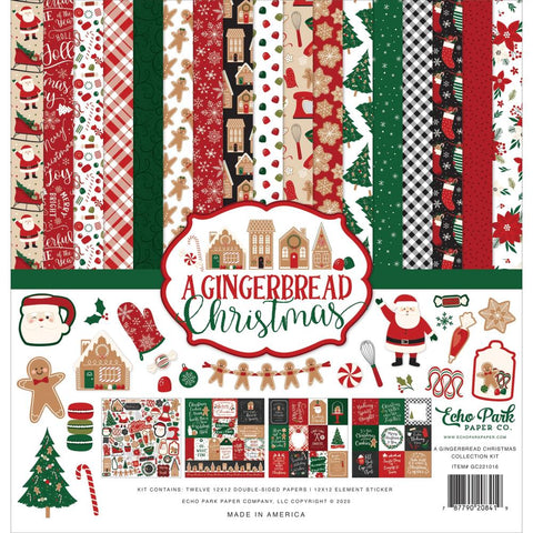 "Echo Park  12""x12"" A GINGERBREAD CHRISTMAS 13pc COLLECTION KIT Scrapbooksrus"