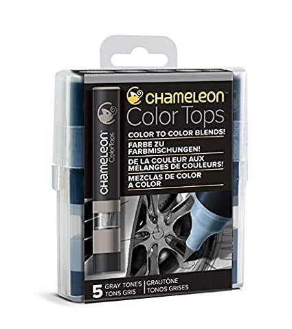 Chameleon Color Tops GRAY TONES Alcohol Markers Pens 5pc Scrapbooksrus