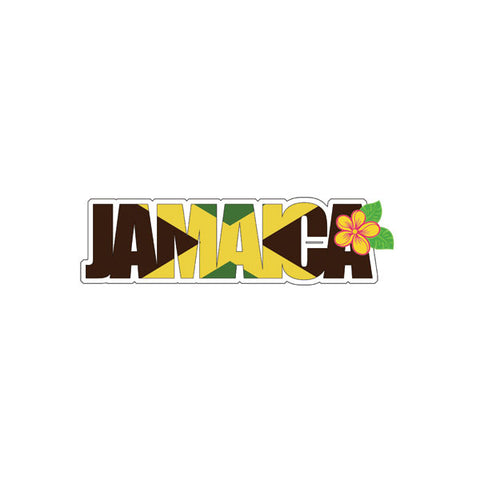 "JAMAICA FLAG WORD Title Travel Laser Cut 1pc 2""x6"" Scrapbooksrus"
