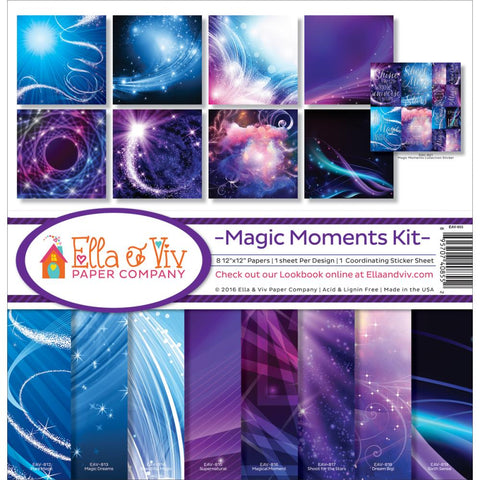 "Ella & Viv MAGIC MOMENTS 12""X12"" Scrapbook Kit 9pc"