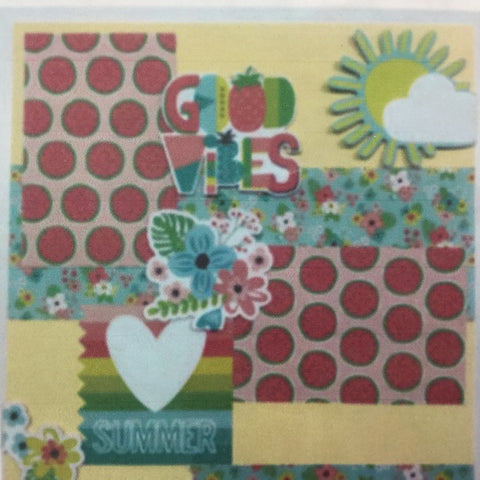 GOOD VIBES Scrapbook Page Kit Scrapbooksrus