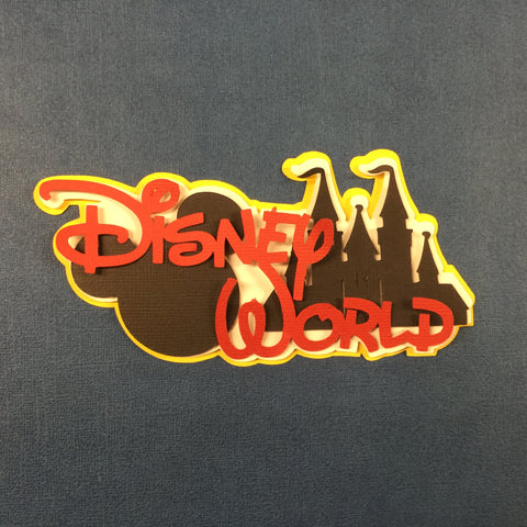 Disney DISNEY WORLD Custom Die Cut Scrapbooksrus