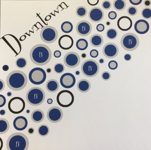 "DOWNTOWN Las Vegas Custom Retro Left Blue 12""X12"" Travel Paper LV"