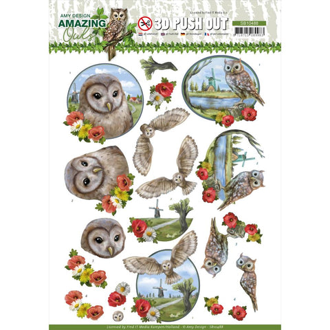 Amy Design AMAZING OWLS 3D Push Out Diecuts Scrapbooksrus