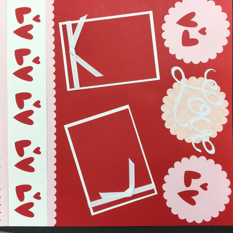 "$5.00 Premade Pages LOVE (2) 12""X12"" Scrapbook Pages Scrapbooksrus"