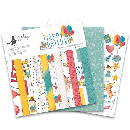 "P13 HAPPY BIRTHDAY 12""X12"" Designer Paper Pack 14pc. Scrapbooksrus"