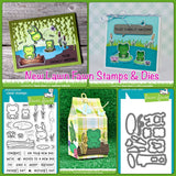 Lawn Fawn Toadally Awesome Samples @scrapbooksrus