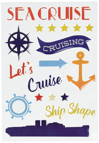 Carta Bella LET'S CRUISE Travel Adhesive Enamel Shapes Scrapbooksrus