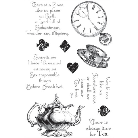 Couture Creations ENCHANTED TEA PARTY Clear Acrylic Stamps
