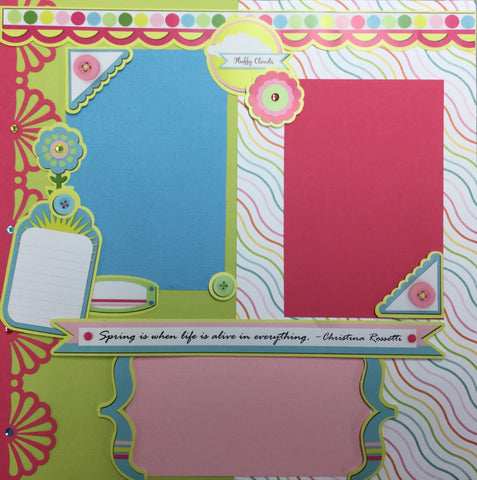 Page Kit (2) 12x12 Scrapbook SPRING IS HERE Scrapbooksrus