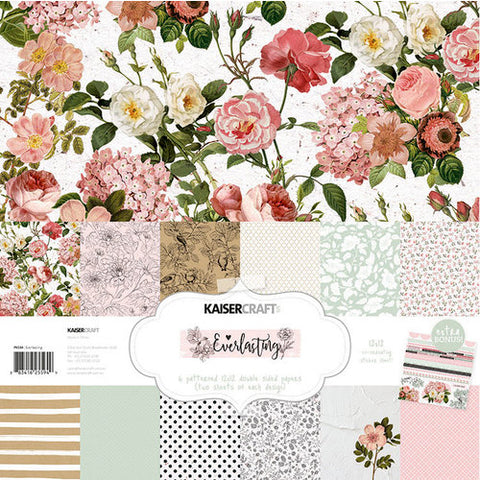 "Kaisercraft 13pc 12""X12"" EVERLASTING Scrapbook Paper Pack Scrapbooksrus"