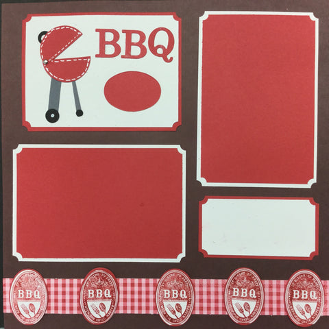 "$5.00 Premade Pages BBQ GRILLMASTER (2) 12""X12"" Scrapbook Pages Scrapbooksrus"