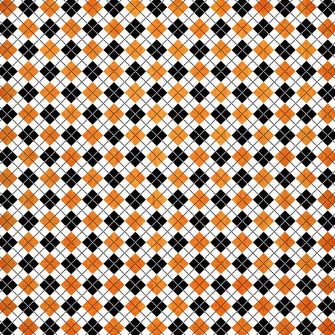 "Scrapbook Customs HALLOWEEN ARGYLE 12x12"" Scrapbook Paper Scrapbooksrus"