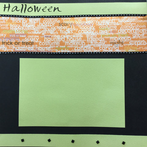 "$5.00 Premade Pages HALLOWEEN 12""X12"" Scrapbook Pages"