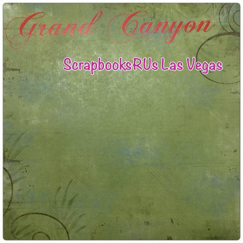 "GRAND CANYON 12""X12"" National Park Green Lush Scrapbook Paper"