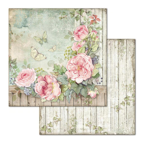 "Stamperia HOUSE OF ROSES SBB675 12""X12"" Scrapbook Paper Scrapbooksrus"