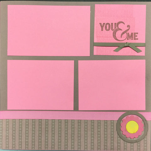 "Premade Pages YOU & ME (2) 12""X12"" Scrapbook Pages Scrapbooksrus"