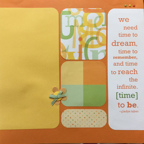 "$5.00 Premade Pages DREAM TIME 12""X12"" Scrapbook Pages Scrapbooksrus"