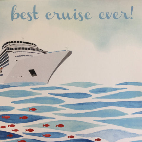 "BEST CRUISE EVER 12""X12"" Scrapbook Customs Travel Vacation Paper"
