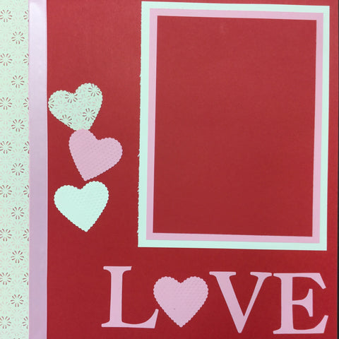 "Premade Pages HAPPY VALENTINES DAY (2) 12""X12"" Scrapbook Pages Scrapbooksrus"