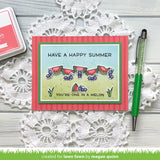 "Lawn Fawn SIMPLY SUMMER SENTIMENTS Clear Stamps 4""X3"""