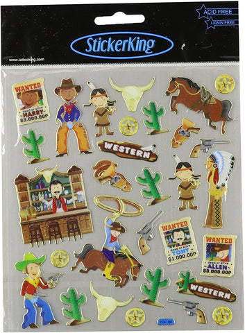 Sticker King COWBOYS AND INDIANS Stickers 29pc. Scrapbooksrus