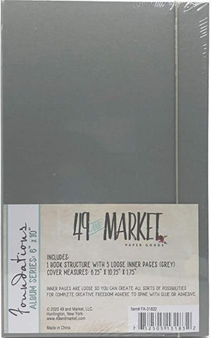 "49 and Market Foundations ALBUM SERIES 6""X10"" GREY Scrapbooksrus"