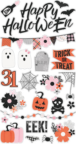 Simple Stories HAPPY HAUNTING Chipboard Stickers 24pc Scrapbooksrus