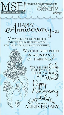 MSE My Sentiments Exactly FLORAL ANNIVERSARY Clear Acrylic Stamps
