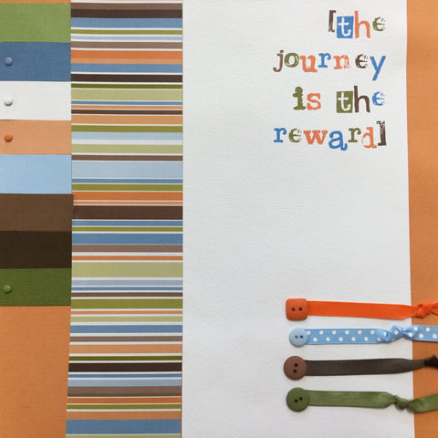 "$5.00 Premade Pages THE JOURNEY 12""X12"" Scrapbook Pages Scrapbooksrus"
