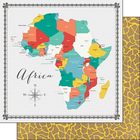 AFRICA MEMORIES MAP 12X12 Paper Scrapbook Customs Scrapbooksrus