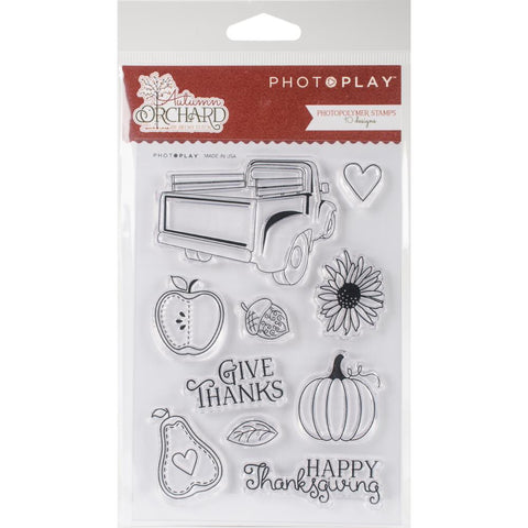"Photo Play AUTUMN ORCHARD Clear Acrylic Stamps 6.25""X4"" 10pc"