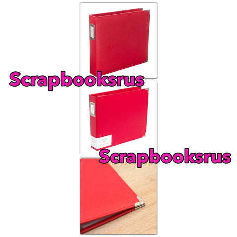 "WeR REAL RED 6""X6"" Classic Leather Scrapbook Album"