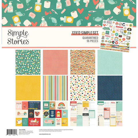 "Simple Stories QUARANTINED Paper Pack 12""X12"" 96pc Scrapbooksrus"