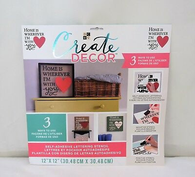 DCWV Create Decor HOME IS WHEREVER  I'M WITH YOU Stencil Scrapbooksrus