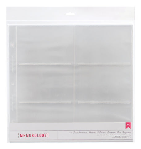 "American Crafts 12""X12"" MEMOROLOGY Page Protectors 10pc"